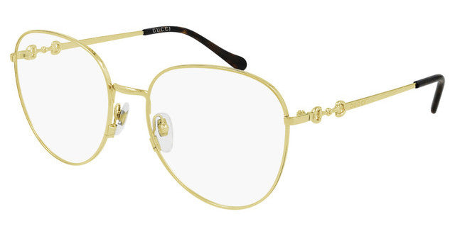 Gucci GG0880O Rounded Metal Horsebit Eyeglasses Frames in Gold