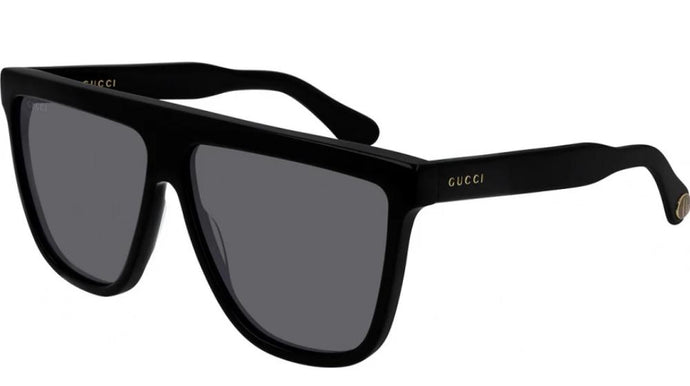Gucci GG0582S Square Flat Top Sunglasses in Black