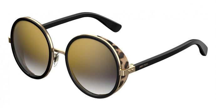 Jimmy Choo Andie Round Shield Sunglasses in Black Leopard