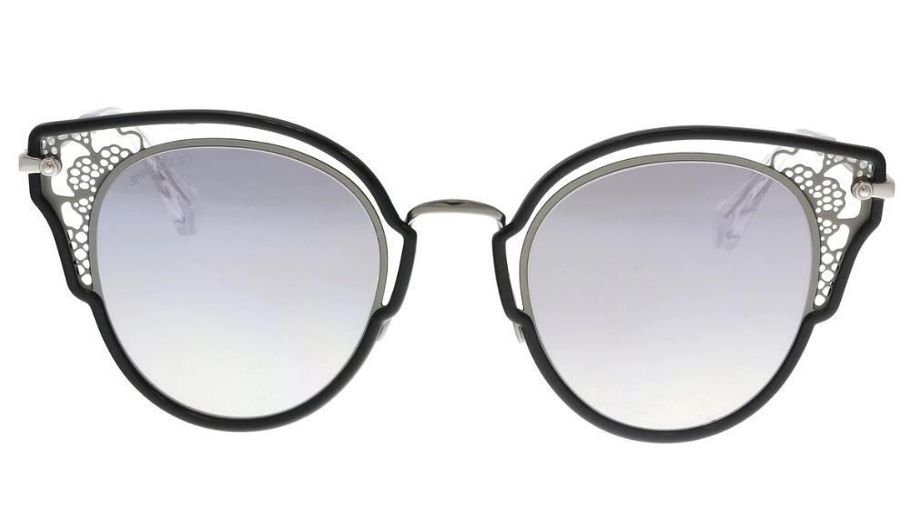 Jimmy Choo Dhelia Lace Cat Eye Sunglasses in Silver