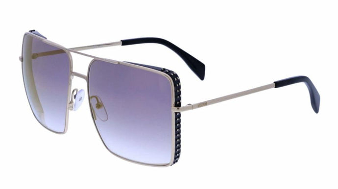 Moschino 020/S Flat Top Aviator Sunglasses in Silver