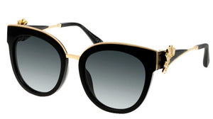 Jimmy Choo Jade Clip On Crystal Cat Eye Sunglasses