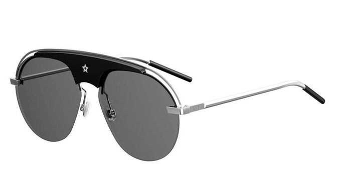 Dior Revolution Black Silver Aviator Sunglasses