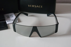 Versace 4360 Shield Silver Medusa Sunglasses