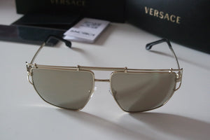Versace 2202 Gold Mirrored Sunglasses