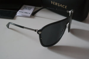 Versace 2180 Shield Sunglasses in Black