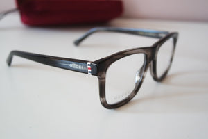 Gucci 0453O Thick Rim Square Unisex Eyeglasses Frames in Grey