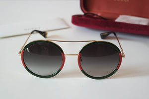 Gucci 0061S Round Sunglasses in Green/Red