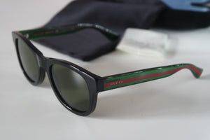 Gucci 0003S Square Striped Leg Sunglasses