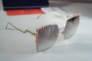 Fendi 0259 Multicolor Oversized Square Sunglasses