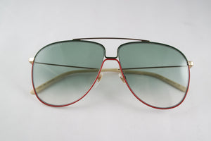 Gucci GG0440S Green Aviator Sunglasses