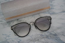 Load image into Gallery viewer, Jimmy Choo Dhelia Lace Cat Eye Sunglasses in Silver