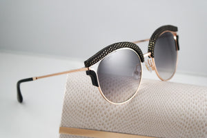 Jimmy Choo Lash Detachable Magnetic Clip On Mirrored Sunglasses