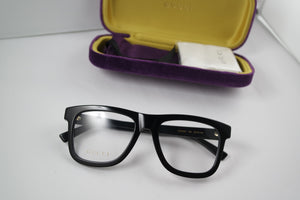 Gucci 0453O Thick Rim Square Unisex Eyeglasses Frames in Black