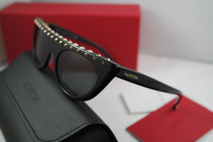 Valentino 4018 Black Studded Cat Eye Sunglasses