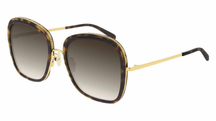 Stella McCartney SC0206S Brown Squared Chain Sunglasses