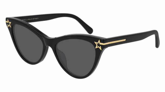 Stella McCartney SC0212S Black Star Cat Eye Sunglasses