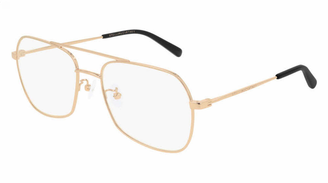 Stella McCartney SC0217O Rose Gold Metal Pilot Eyeglasses Frames