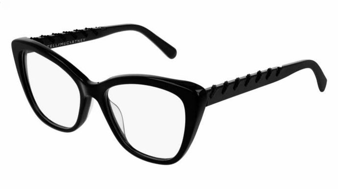 Stella McCartney SC0164O Full Black Cat Eye Chain Eyeglasses Frames