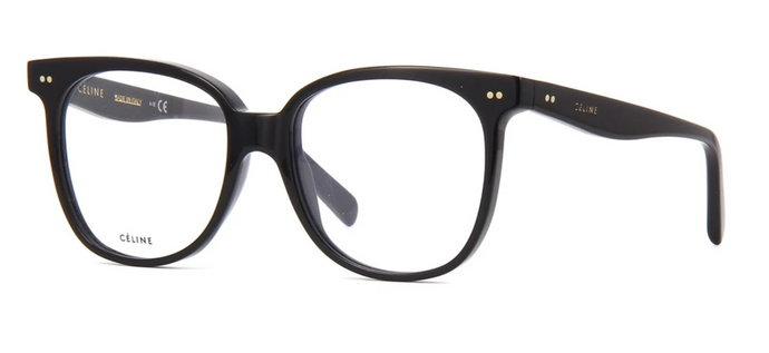 Celine CL50010I Black Oversized Eyeglasses Frames