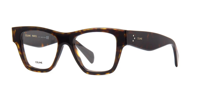 Celine CL50014I Thick Rim Dark Brown Eyeglasses Frames