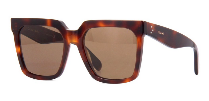 Celine CL4055IN Tilda Havana Brown Polarized Square Sunglasses