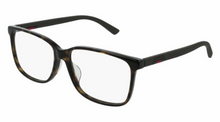 Load image into Gallery viewer, Gucci 0426OA Oversized Square Rubber Leg Eyeglasses Frames in Brown