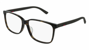 Gucci 0426OA Oversized Square Rubber Leg Eyeglasses Frames in Brown