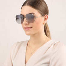 Load image into Gallery viewer, Gucci GG0646S Rimless Oversized Sunglasses in Grey Lens
