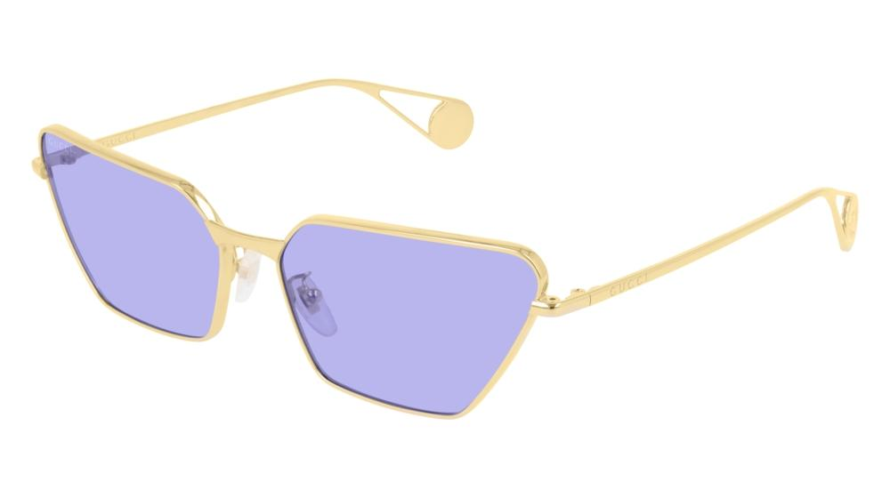 Gucci GG0538S Metal Cat Eye Sunglasses in Violet