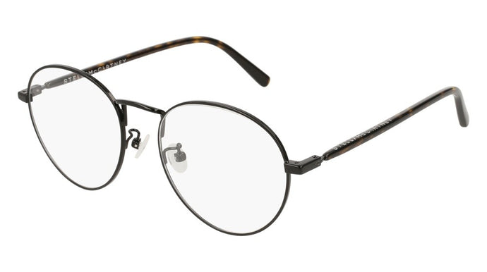 Stella McCartney SC0126O Black Metal Round Eyeglasses Frames