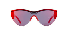 Load image into Gallery viewer, Balenciaga BB0004SA 003 Shield Mirrored Sunglasses in Red