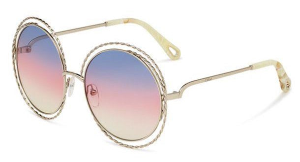 Chloe CE114ST Carlina Twist Sunglasses in Pink Gradient