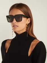 Load image into Gallery viewer, Celine CL4055IN Tilda Black Polarized Square Sunglasses
