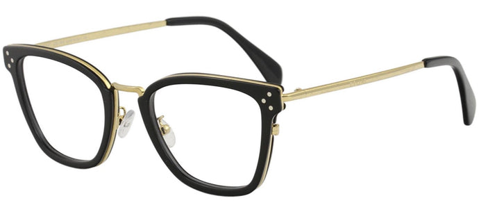 Celine CL50002U Black Gold Metal Cat Eye Eyeglasses Frames