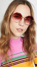 Load image into Gallery viewer, Chloe CE143S Rosie Scalloped Sunglasses in Pink Gradient