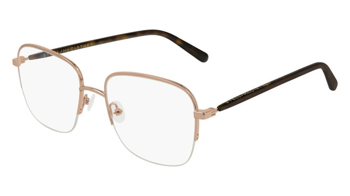 Stella McCartney SC0185O Rose Gold Half Rim Eyeglasses Frames