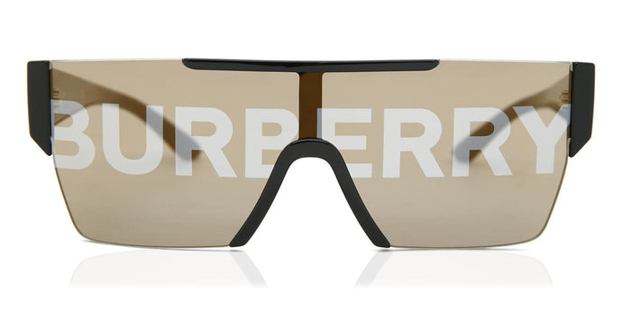 Burberry 4291 Mirrored Shield Sunglasses in Gold