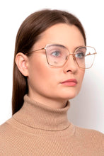 Load image into Gallery viewer, Dior SignatureO1 Rose Gold Metal Cat Eye Logo Eyeglasses Frames