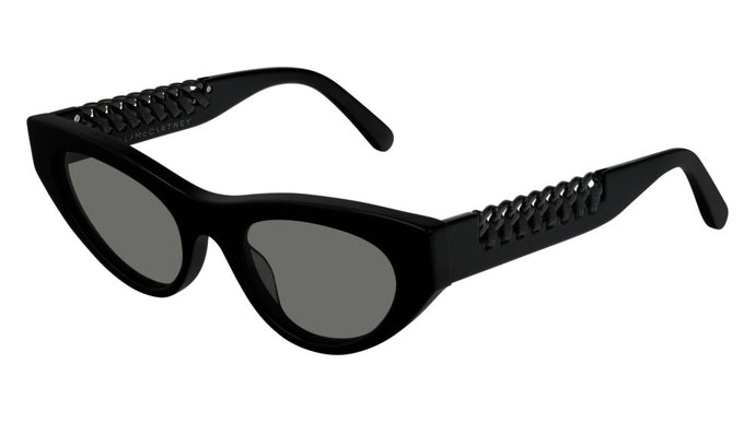 Stella McCartney SC0193S Black Chain Leg Cat Eye Sunglasses