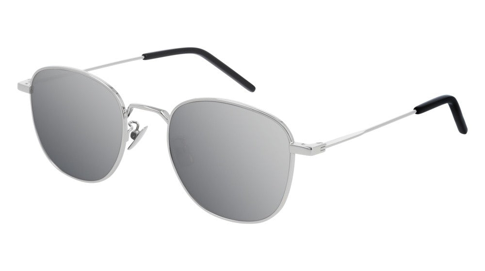 Saint Laurent SL299 Silver Mirrored Round Sunglasses