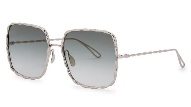 Elie Saab ES003/S Chaine Sunglasses in White Gold