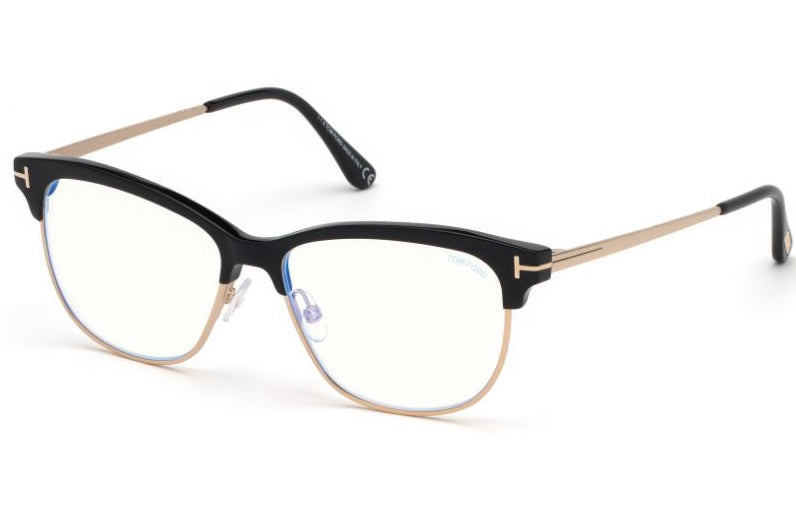 Tom Ford 5546-B Bluelight Black Wayfarer Eyeglasses Frames