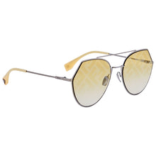Load image into Gallery viewer, Fendi 0194 Eyeline Mirrored Logo Aviator Sunglasses in Yellow