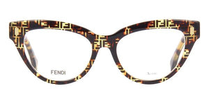 Fendi FF0443 Brown Logo Cat Eye Frames