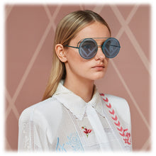 Load image into Gallery viewer, Fendi 0285/S Runaway Logo Mirrored Round Sunglasses in Turquoise