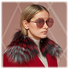 Load image into Gallery viewer, Fendi FF0285/S Logo Oversized Mirrored Round Sunglasses in Red