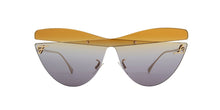 Load image into Gallery viewer, Fendi 0400/S Kalligraphy Cat Eye Sunglasses in Multicolor Grey