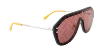 Load image into Gallery viewer, Fendi FFM0039/G/S Fabulous Logo Mirrored Sunglasses in Grey Red Lens
