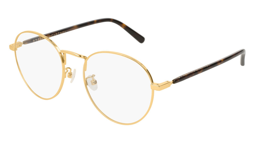 Stella McCartney SC0126O Gold Metal Round Eyeglasses Frames